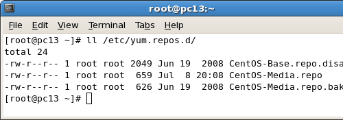 yum repos files on CentOS