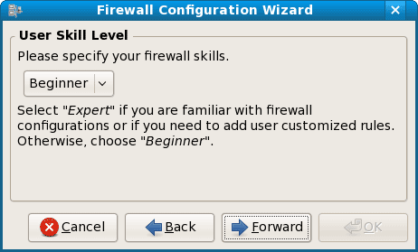 firewall user skill level