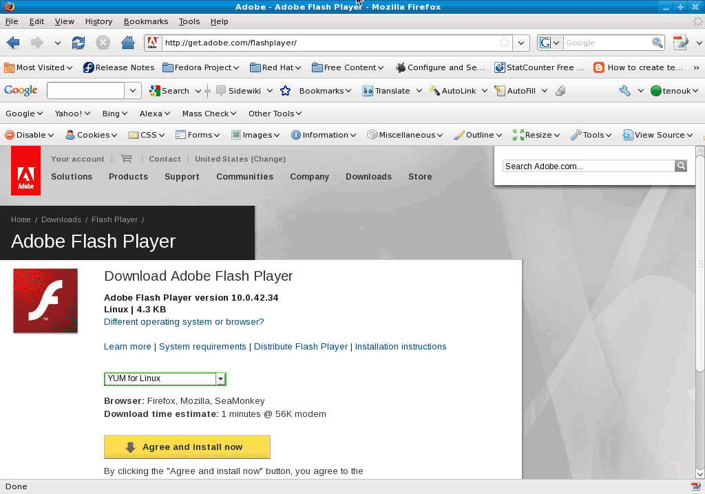 How to install flash player on fedora 10 linux windows How to start flash player