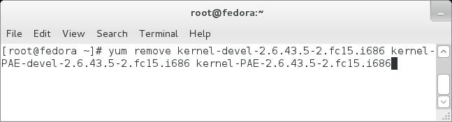 Remove Fedora kernel | Linux Windows Install Setup