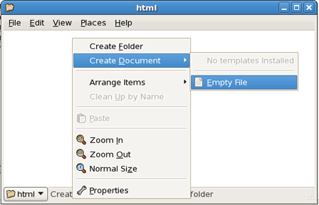 Create Document Create Empty File