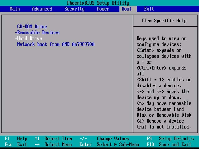 Step by step how to configure the computer bios setup to change