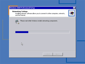 Install Windows 2000 Professional: Install Networking Components image