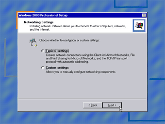 Install Windows 2000 Professional: Networking Setting image