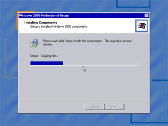 Install Windows 2000 Professional: Installing Components