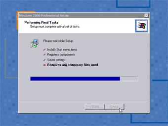 Install Windows 2000 Professional: Performing Final Tasks