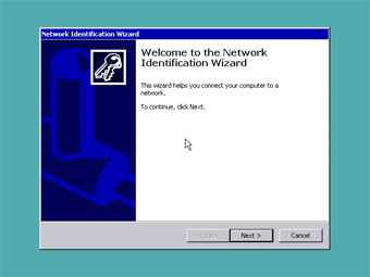 Install Windows 2000 Professional: Welcome Network Identification Wizard