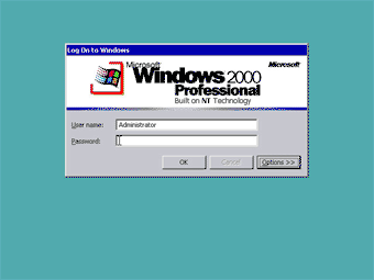 Install Windows 2000 Professional: Log On to Windows