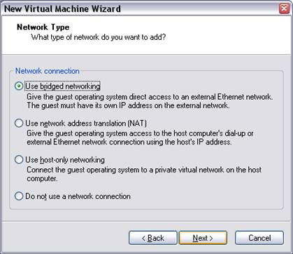 Bridge Network VMware Workstation