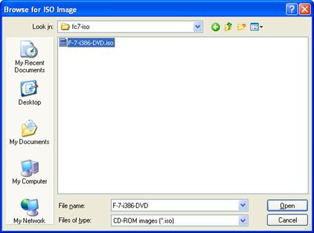 Browse iso image